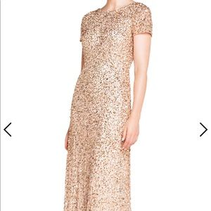 Gold sequenced gown